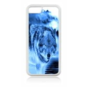 Blue Wolf Design White Rubber Case for the Apple iPhone 6 Plus / iPhone 6s Plus - Apple iPhone 6 Plus Accessories -iPhone 6s Plus Accessories