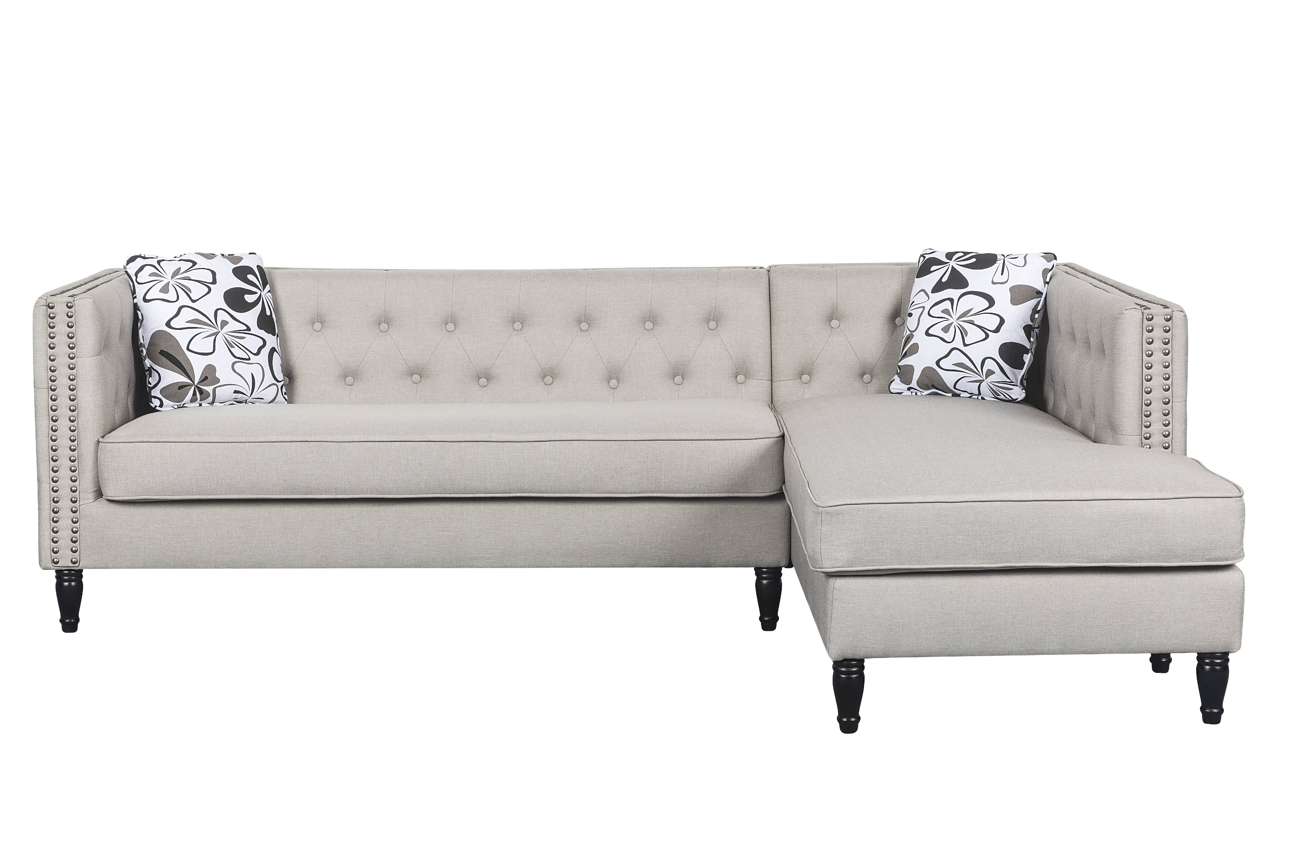 Picture of: Us Pride Furniture Button Tufted Modular L Shaped Sectional Sofa With Nailhead Trim Walmart Com Walmart Com