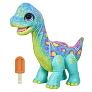 FurReal Snackin' Sam the Bronto, 40+ Sounds & Reactions, for Kids Ages 4 and up