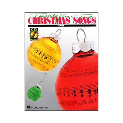 Hal Leonard 25 Top Christmas Songs for Flute Book CD by