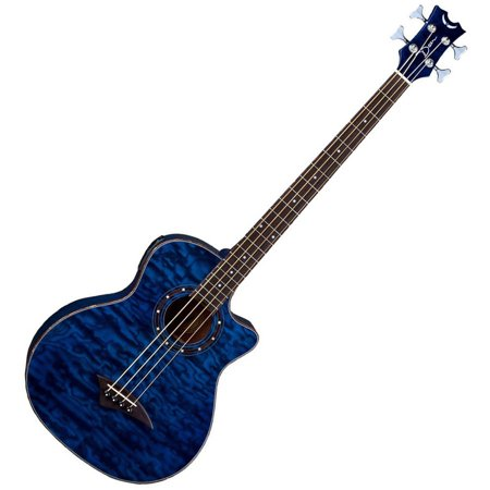 Dean Exotica Quilt Ash Acoustic Electric Bass W Aphex Tbl