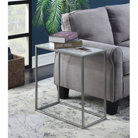 Convenience Concepts Gold Coast Faux Marble Chairside Table, Multiple Finishes