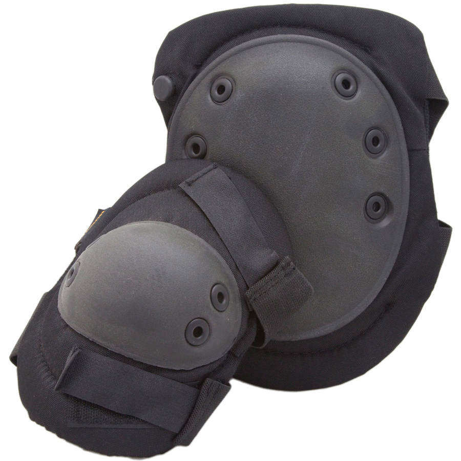 Anti-Skid Knee and Elbow Pads with PVC and Foam Padding, Humvee, Black