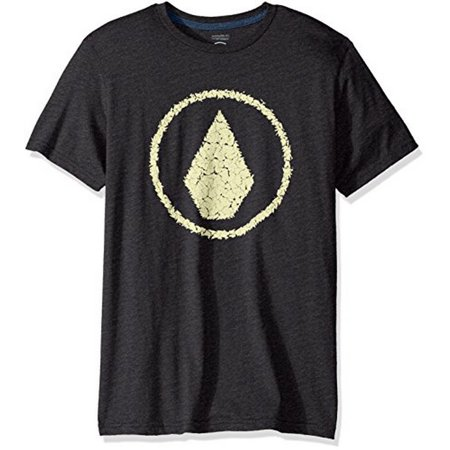 Jag Mens (Volcom Mens JAG S/S TEE, HEATHER BLACK,)