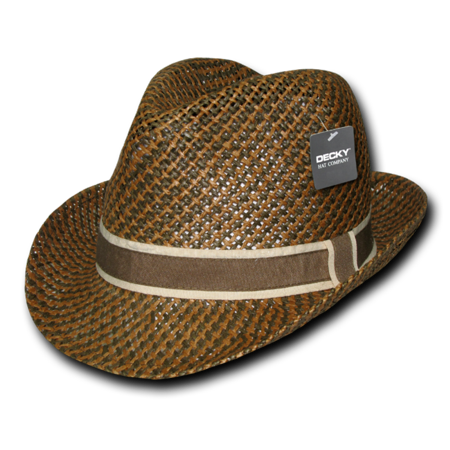 DECKY Sweatband Paper Braid Woven Fedora Hat, Style 538 Paisley Woven Hat