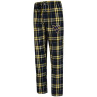 West Virginia Mountaineers Concepts Sport Big & Tall Hillstone Flannel Pants - Navy