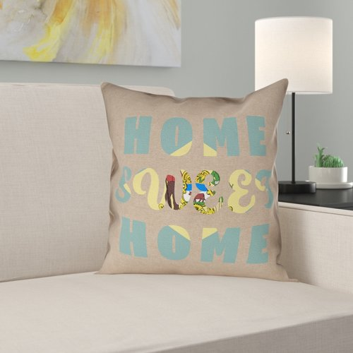 Ebern Designs Fawcett Home Sweet Delaware Pillow