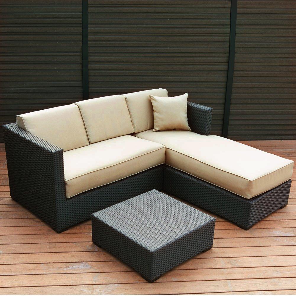 Abba Patio Furniture Set 3 Piece Outdoor Wicker Rattan Garden Sofa