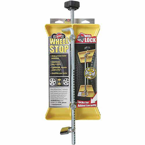 Camco RV Wheel Stop with Padlock, Yellow