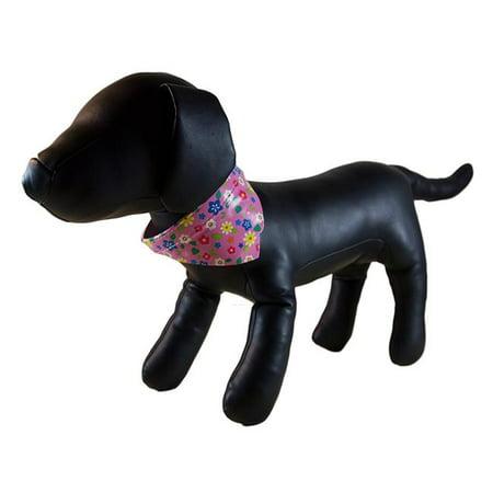 Flower Bandana Dog Collar Pink Extra Small