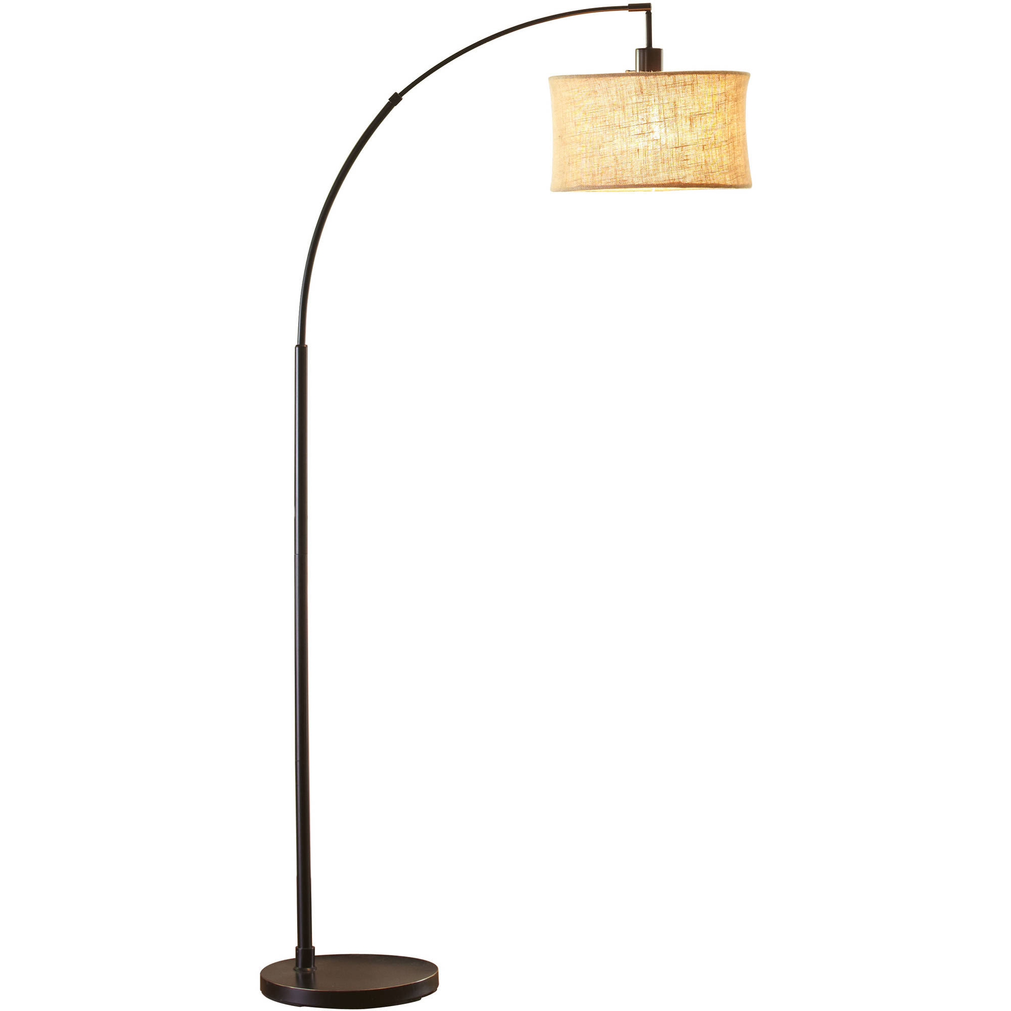 better homes and gardens orb burlap arc floor lamp