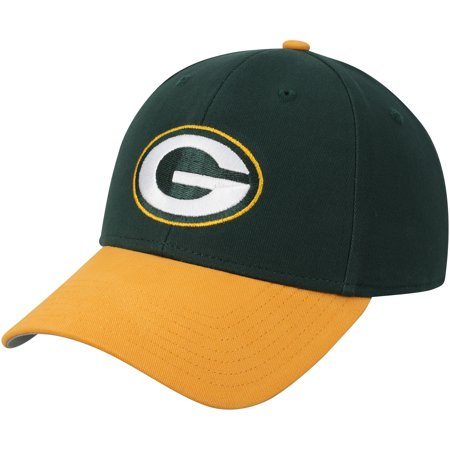 Youth Fan Favorite Green/Black Green Bay Packers Two-Tone Adjustable Hat - OSFA (Green Bay Packers Party Decorations)
