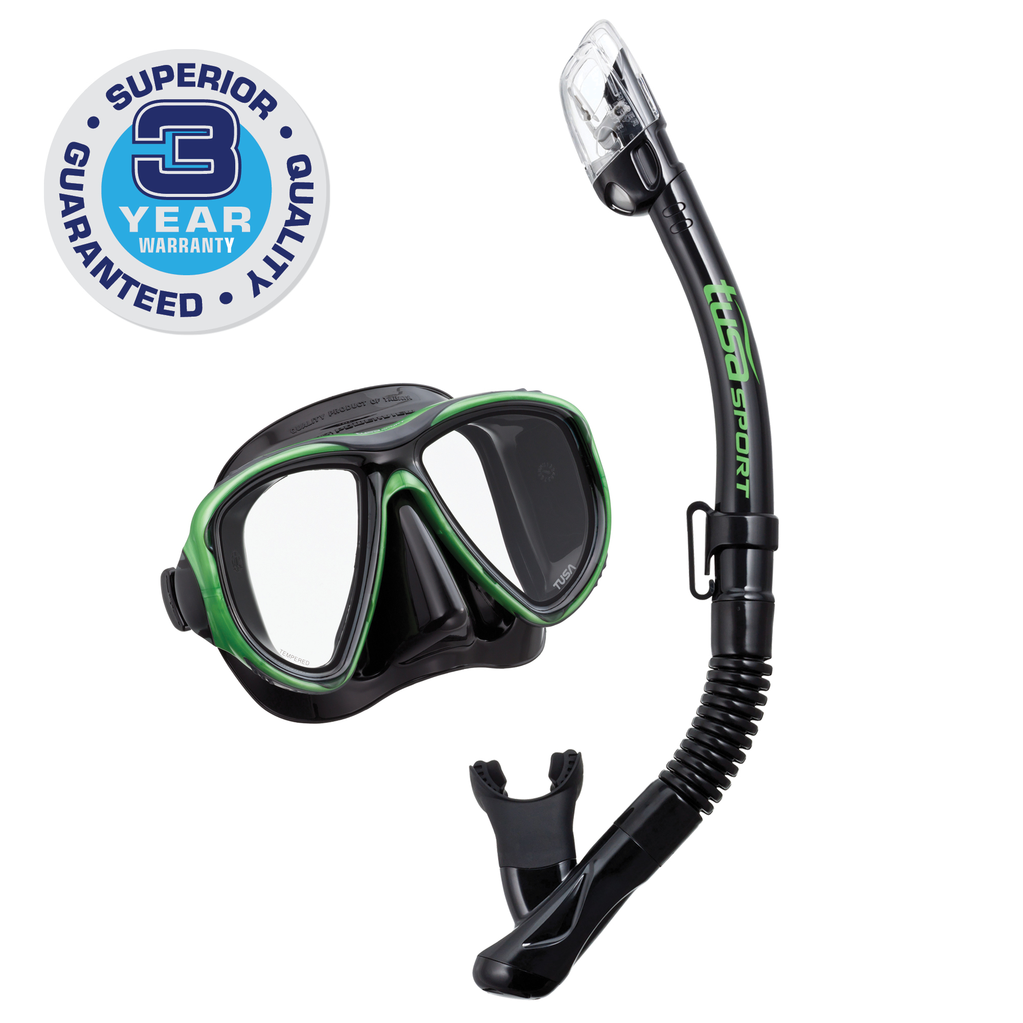 TUSA Sport Adult Powerview Dry Mask and Snorkel Combo by Tabata USA, Inc.