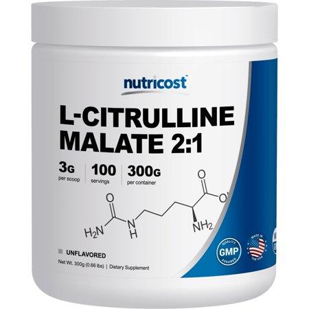 Nutricost L-Citrulline Malate (2:1) Powder (300 (L-citrulline 100% Pure Powder)