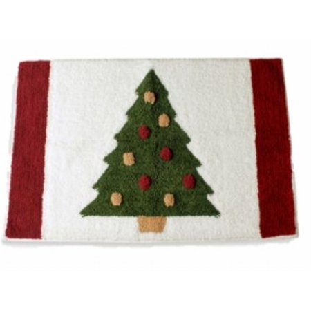 Winter Wonderland Holiday Christmas Tree Bath Throw Rug