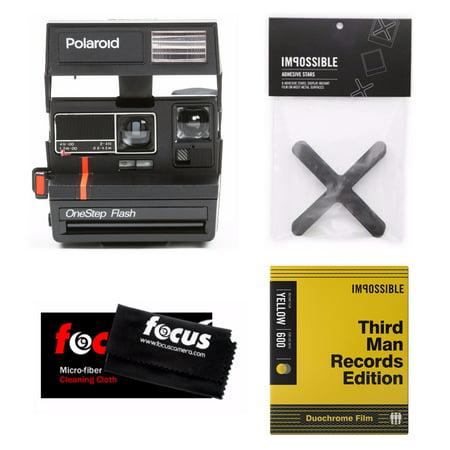 Impossible Project Polaroid 600 Red Stripe Camera w/ Film (Silver ...