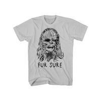 Star Wars Fur Sure Mens Grey T-Shirt | S