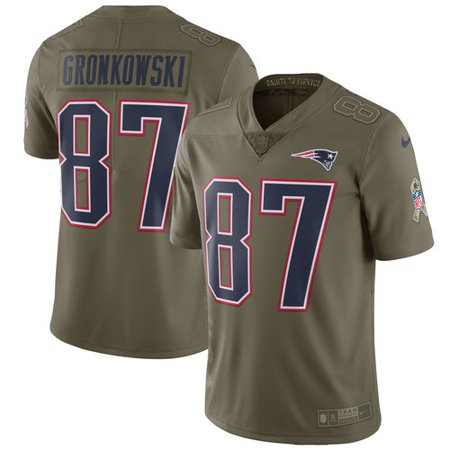 02310ed5 Men's Nike Rob Gronkowski Olive New England Patriots Salute To ...