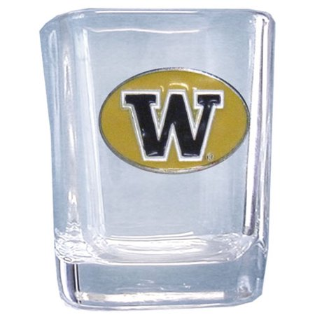 Washington Huskies Square Shot Glass (F) (Huskies Art Glass)