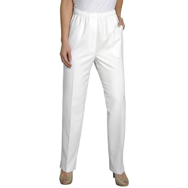 Alia - Alia Plus Microfiber Solid Pull On Pants - Walmart.com