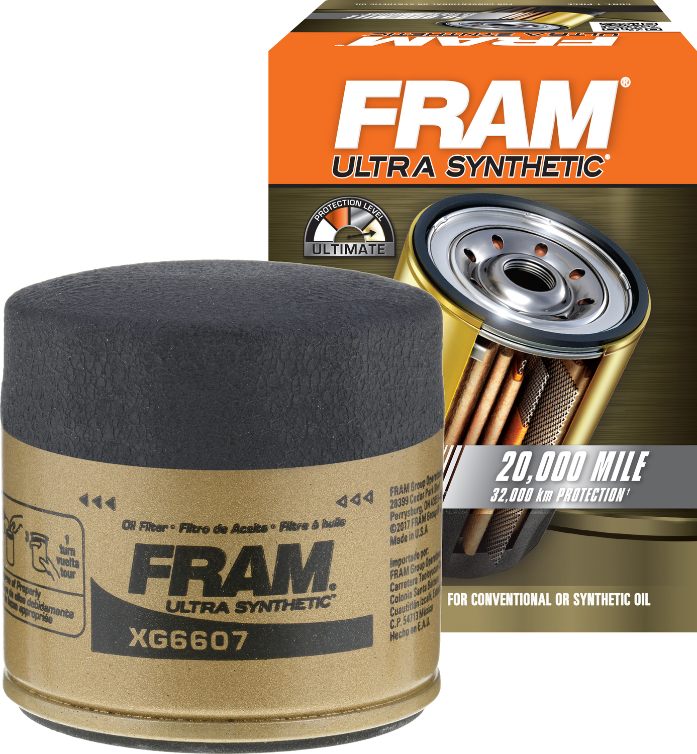 FRAM Ultra Synthetic Oil Filter, XG6607
