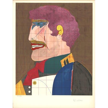 Richard Lindner Profile 1969 Lithograph Signed