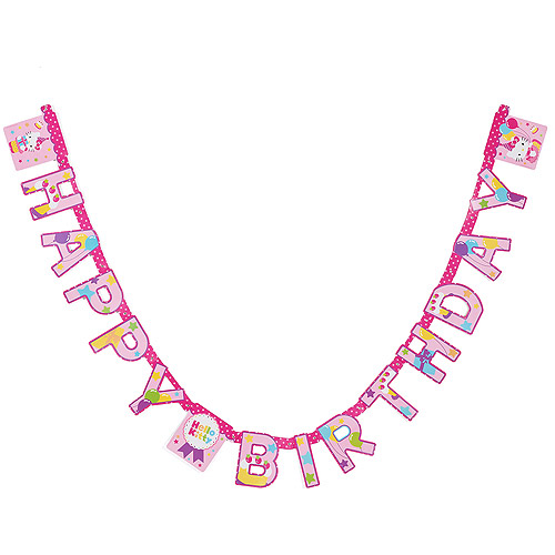 Hello Kitty Birthday Party Banner, Party Supplies
