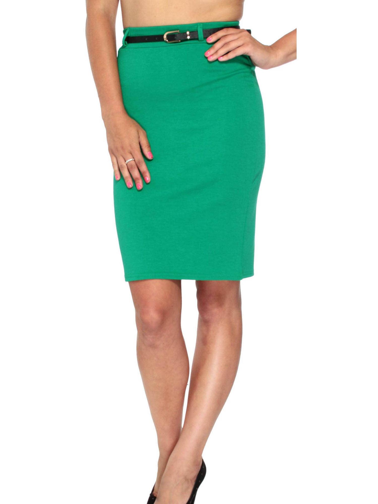 Hot Womens Fitted Business Knee Long Slimming High Waist Office Pencil Skirt