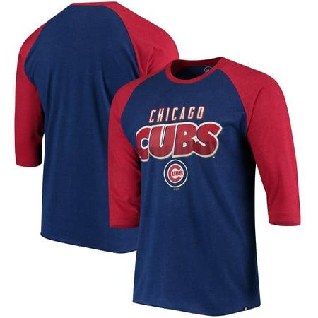 Chicago Cubs '47 Club 3/4-Sleeve Raglan T-Shirt - Royal - Halloween Chicago Clubs