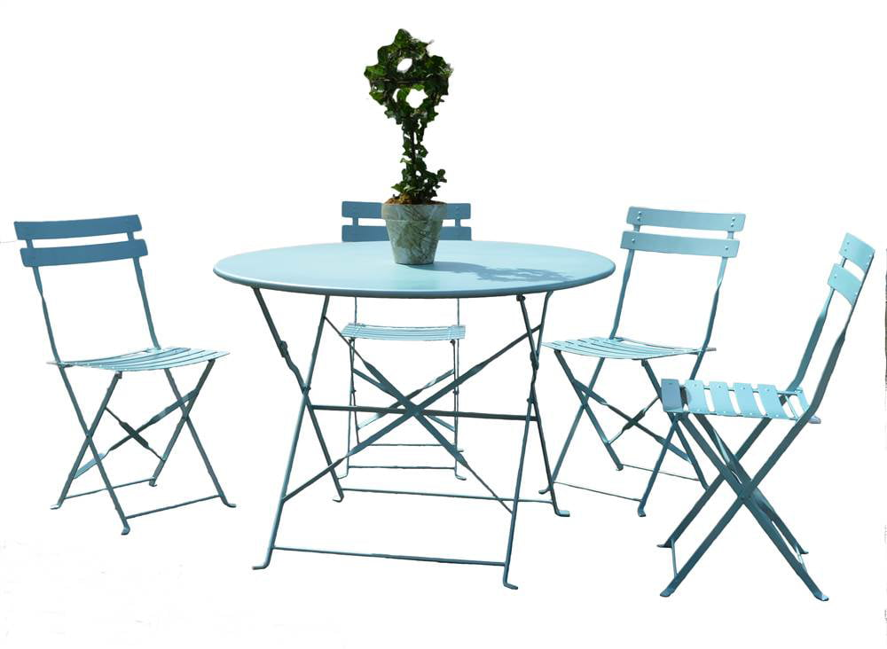 5-Pc Bistro Set in Pool Blue by Carolina Chair and Table Company