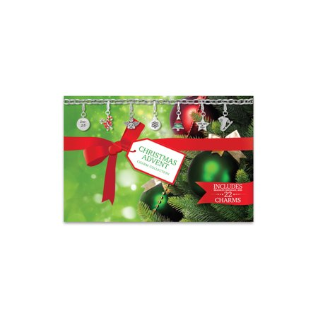 Advent Calendar 2017 Christmas Charm Bracelet And Necklace Set With Green Tree Gift Box
