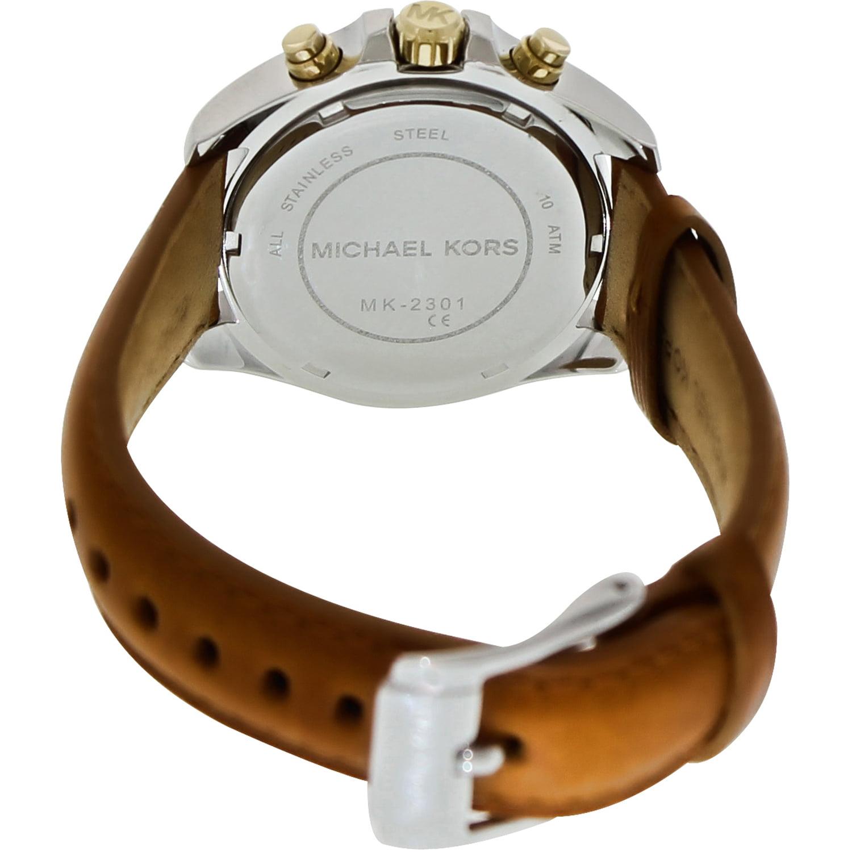 815c58a16f85 Michael Kors - Men s Bradshaw MK2301 Brown Leather Quartz Fashion Watch -  Walmart.com