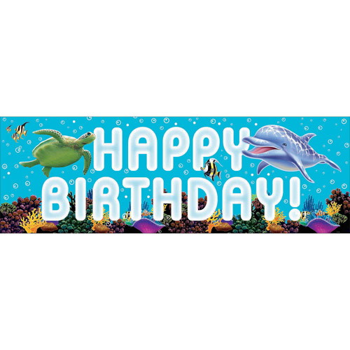 Creative Converting Ocean Party Giant Party Banner
