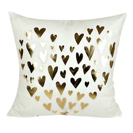 Outgeek Pillow Cases Metallic Pattern Pillow Covers Decorative Throw ... 2d3f879ca2