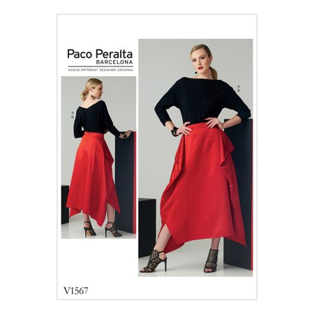 Vogue Patterns Sewing Pattern Misses' Top and Draped Skirt-6-8-10-12-14