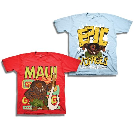 cf9ca6c3 Moana Disney's Pixar Maui Shirt - 2 Pack of Tees - Featuring and Maui -  Walmart.com