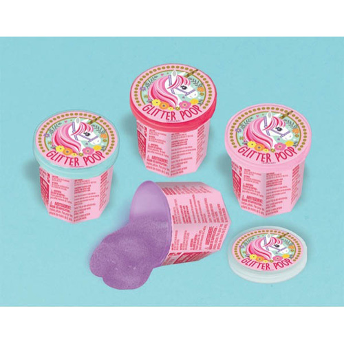 Magical Unicorn Glitter Ooze Putty / Favors (4ct)