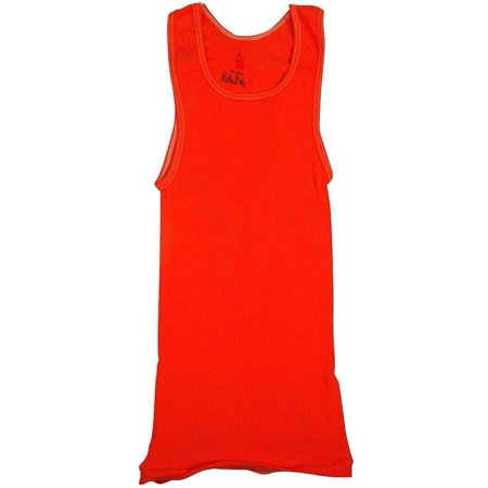 8c8bdb8d1cad32 Hanes - Big Girls Ribbed Tank Top Bright Orange   Large - Walmart.com