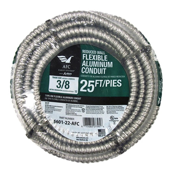 Afc Cable Systems 5601-22-AFC Conduit, Reduced Wall, Aluminum, 3/4-In. x 25-Ft. Coil