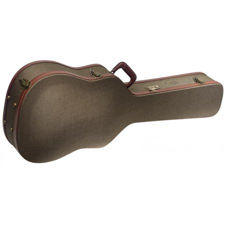 Deluxe Acoustic Guitar Case - Stagg GCX-W BZ Deluxe Hard Case for Western/Dreadnought Acoustic Guitar - Vintage Style Bronze Tweed