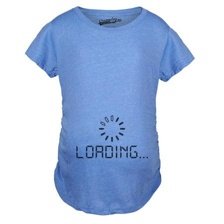 cd9c8bf2 Crazy Dog Funny T-Shirts - Maternity Baby Loading Shirt Humor Funny  Pregnancy Shirts Cheap Tees - Walmart.com