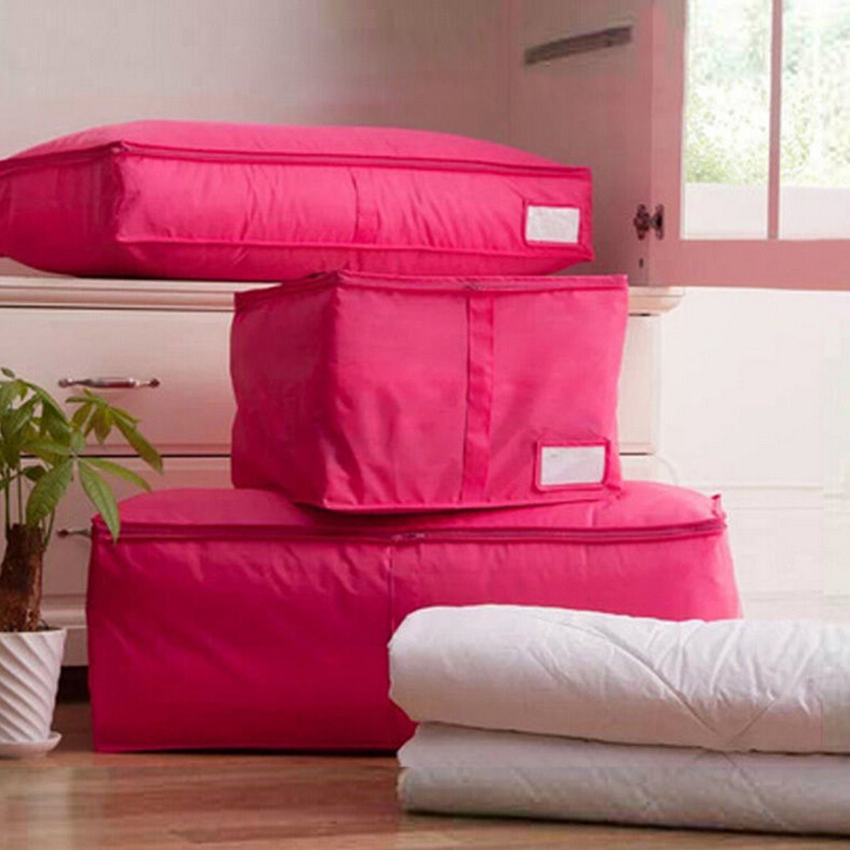 Hot Sale Clothes Organizer Home Shoe Storage Boxes Quilts Sorting Pouch Luggage Folding Organizer Bags Bins