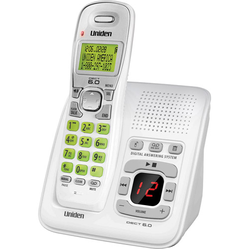 Uniden DECT Digital Answering System with CID, White