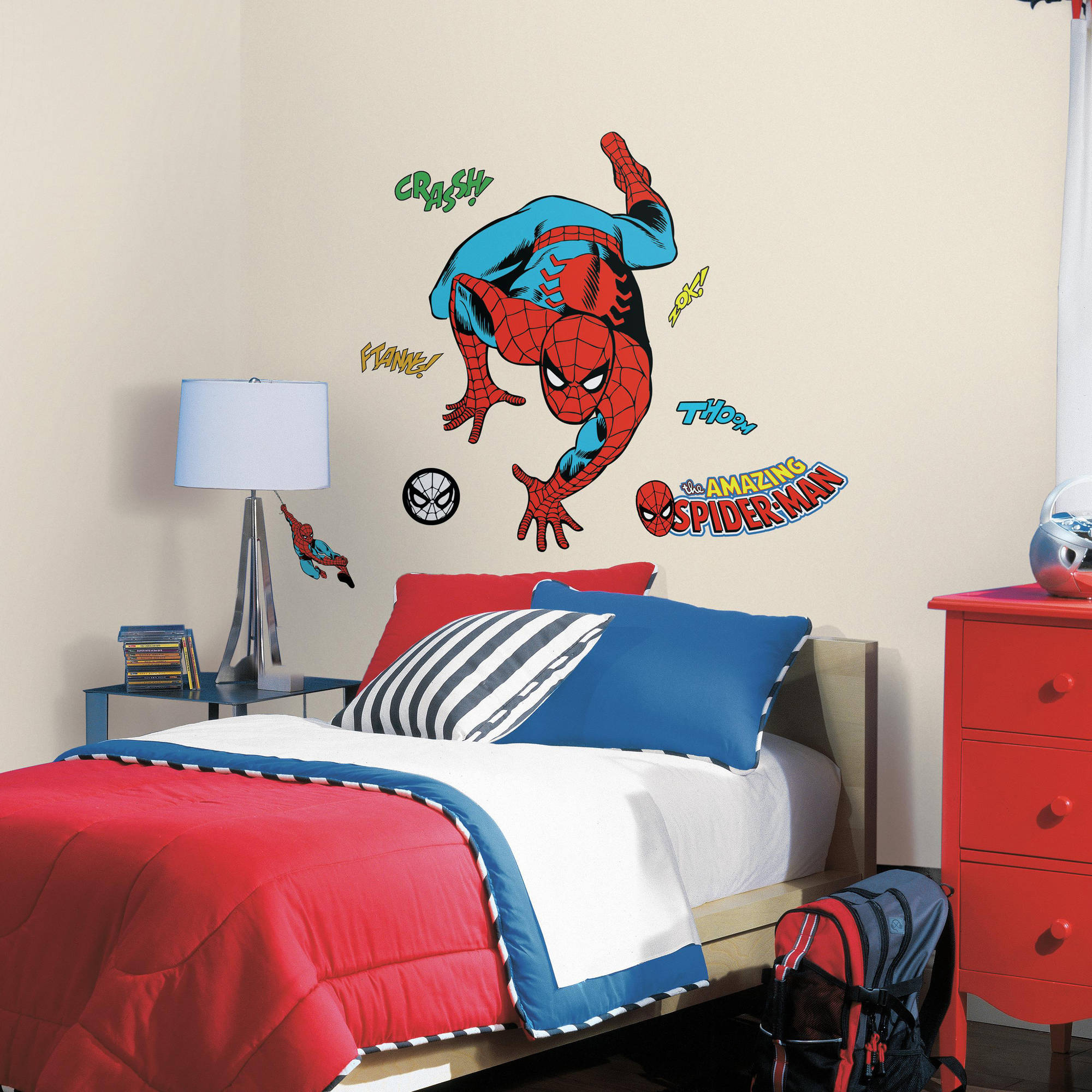 RoomMates Decor Classic Spider-Man Comic Peel-and-Stick Wall Decals