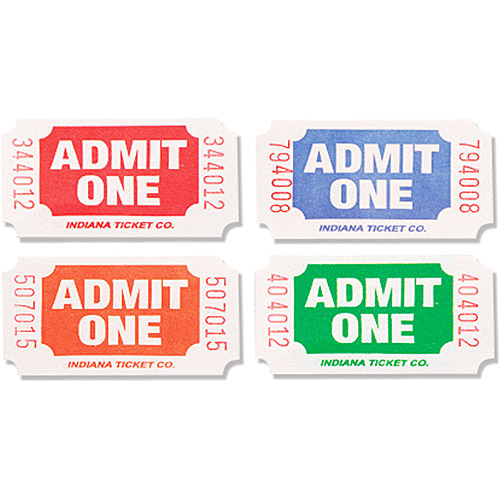 Creative Expressions Admit One Tickets, 2000/Roll