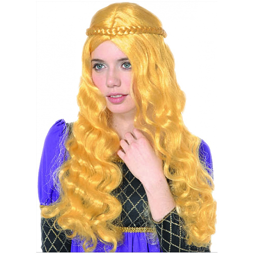 Yellow Renaissance Wig Adult Costume Accessory