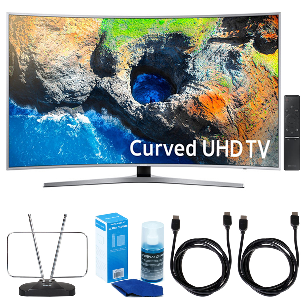"Samsung UN49MU7500 48.5"" Curved 4K UHD Smart LED TV 2017 w/ TV Cut"