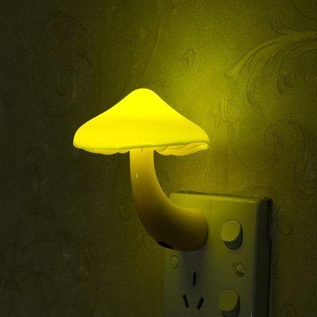 Home LED Yellow Light Sensor Night Light Socket Bedside Table Lighting Control