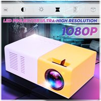 YG300 1080P HD LED Projector Home Theater Cinema USB HD MI AV SD Mini Portable