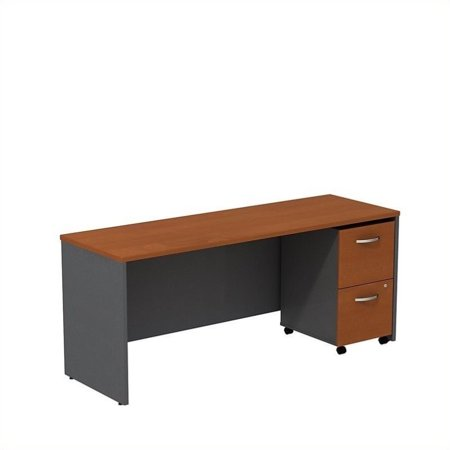 "Bush Business Series C 72"" Credenza Desk with Pedestal in Auburn Maple - image 1 de 1"